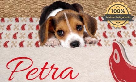 Personalisierte Hunde  oder Katzen Decke mit Namen oder Foto von Printerprix (bis zu 92% sparen*)